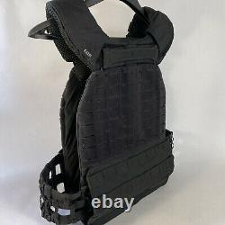 5.11 TACTICAL 56100 TACTEC PLATE CARRIER VEST BLACK (With Weighted Plates)