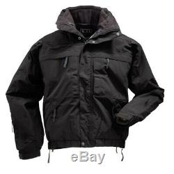 5.11 Tactical Series 5-In-1 Jacket Black Large NEW WITHOUT tags