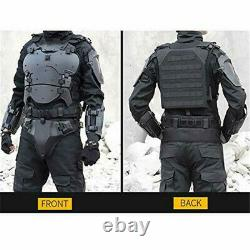 Airsoft Tactical Body Armor Set Chest Armor Vest Elbow Pad Protector adjustable