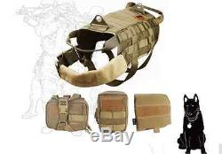 Army Military Tactical Bomb Squad Harness Vest Hunting Molle Dog Canine Pigging