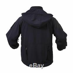 Black Rothco Special Ops Tactical Soft Shell Jacket Waterproof Free Shipping