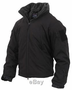 Black Special Ops 3 in 1 Soft Shell Waterproof Tactical Jacket 3943 Rothco