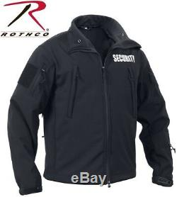 Black Special Ops Tactical Soft Shell Tactical Security Jacket Coat Rothco 97670