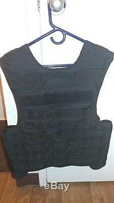 Blackhawk, BLACK, tactical, cut-away plate carrier vest, MEDIUM