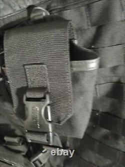 Blackhawk S. T. R. I. K. E. Omega Vest Black Sz 36 with extra pouch and holder