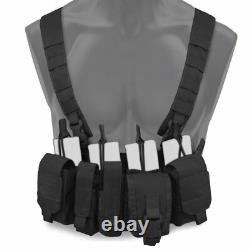 Bulldog Kinetic Military Tactical Armour Plate Carrier & Chest Rig Bundle Black