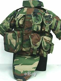 Camouflage Combat Armor With Pouch Airsoft Military Molle Assault Plate Carrier