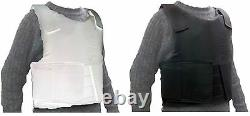 Combat Security Vest Work Tactical Protection Resistant Removable Back Pad