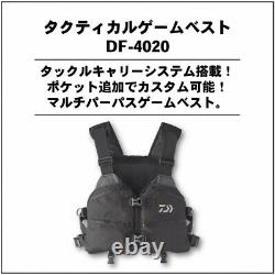 Daiwa 20 Tactical Game Vest DF-4020 Black Free size from Japan EMS F/S