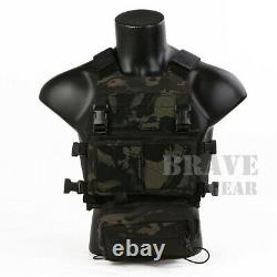 Emerson FCS Tactical Combat Vest Molle withMK Chest Rig SET Micro Fight Chassis