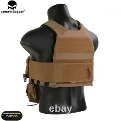 Emerson FCS Tactical Combat Vest withMK Chest Rig SET Molle Plate Carrier Holder