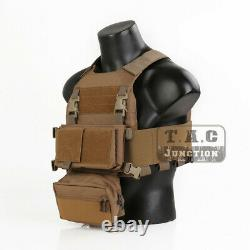 Emerson FCS Tactical Combat Vest withMK Chest Rig SET Molle Slicker Plate Carrier
