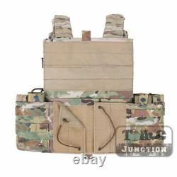 Emerson Modular MOLLE LBT-6094A Plate Carrier Tactical Combat Vest with Pouches
