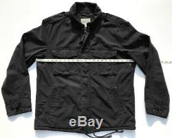 J. CREW VTG US Army Military Field Jacket M65 Tactical Black Ripstop Mens M L NEW