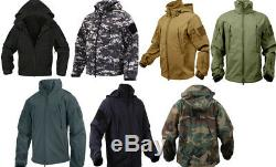 Jacket Waterproof Special Ops Soft Shell with Fleece lining Tactical Rothco