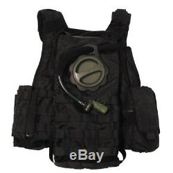 MFH Tactical Military Police Modular Molle Vest 5 Bags + Hydration Bag¨- Black