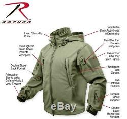Military Police Rothco Special Ops Tactical Waterproof Soft Shell Jacket 9767