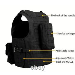 Military Tactical Vest Molle Airsoft Combat Assault Army Plate Carrier Holder