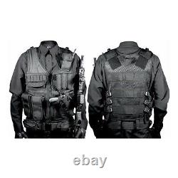 Military Vest Tactical Plate Carrier Holster Police Molle Assault Combat Gear