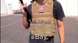 Ncstar Tactical Vest Plate Carrier QR Expert with Level IIIA Shooter's Cut Med-2XL