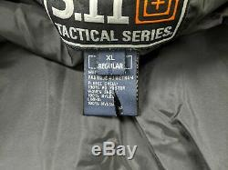 New 5.11 Tactical 4 1 Duty Jacket XL Extra Large Black Conceal Carry Heavy Duty