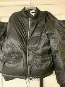 Oamc men's tactical down jacket black size small with attached vest