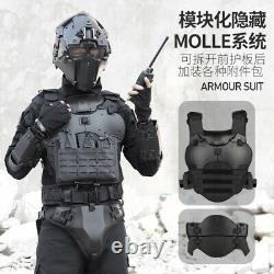 Outdoor Expansion Tactical Armor Set Adjustable Protective Vest Elbow Pads Chest