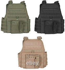 Oversized Big Tall 3XL Plate Carrier Vest Molle Tactical Adjustable Fox 65-2105