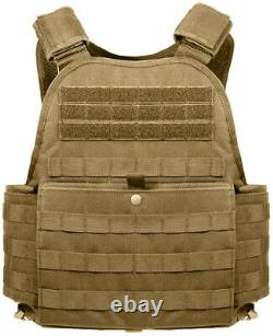 Oversized Big Tall 3XL Plate Carrier Vest Molle Tactical Adjustable Rothco 1922