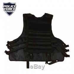 Police Force Tactical Vest With Pocket For Ballistic Shield Insert
