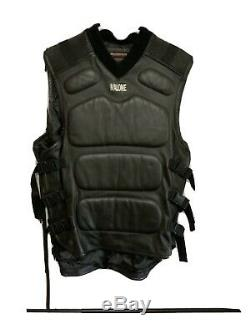 Rare Vintage Malonetech By Maurice Malone Leather Tactical Vest Xxl