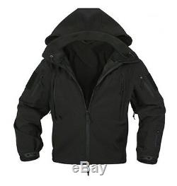Rothco 9767 Black Special Ops Tactical Softshell Jacket