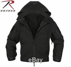 Rothco 9767 Waterproof Special OPS Tactical SoftShell Jacket Cold Weather Black