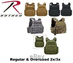 Rothco MOLLE Plate Carrier Tactical Vest Regular & Oversized 2x/3x 8922 1922