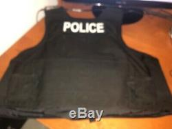 Safariland male Body Armor with Outer Black Tactical Vest Carrier 4/17