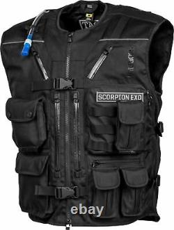 Scorpion Covert Tactical Motorcycle Vest / Black All Sizes
