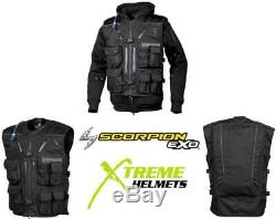 Scorpion Covert Tactical Vest Abrasion Resistant Integrated Backpack S-3XL