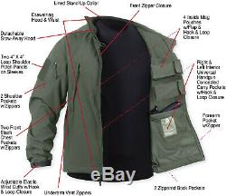 Soft Shell Concealed Carry Jacket CCW Ambidextrous Tactical Holster Waterproof