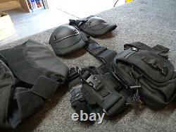 Swat Gear Galls Tactical Vest Rail Helmet with Comms Rothco Leg Holster 9mm Molle