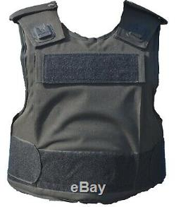 Tactical Black Hawk Body Armour Stab Vest Spike Bullet Proof Grade A