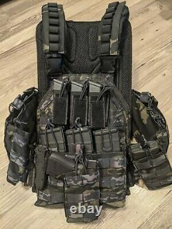Tactical Bug-out Plate Carrier Vest With Molle Pouches