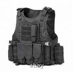 Tactical Law Enforcement Molle Assault Plate Carrier Vest With All Accessories