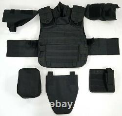Tactical MOLLE Modular Plate Carrier System Military BLACK withAttachments+Pouches