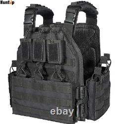 Tactical Military Vest Quick Release Airsoft Plate Carrier with Molle Pouches