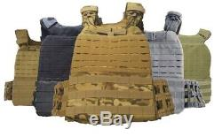 Tactical Plate Carrier vest with Level 4 Body Armor Bulletproof plates
