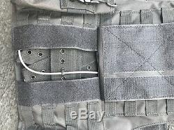 Tactical Vest Plate carrier- Black with 2 Curved Plates & Pouches Included