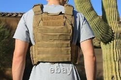 Tactical Vest -Tac Plate Carrier with Mag Pouches Military- Adjustable