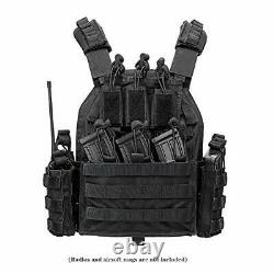VAv YAKEDA Outdoor Tactical Military Vest Airsof Vest for Men (Black-B)