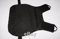 XL Black Full Body Armor Plate Carrier MOLLE Tactical Vest IIIA Kevlar included